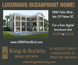 King & Society: 2800 Palm Blvd – IOP – Beachfront new build, available fall 2018.