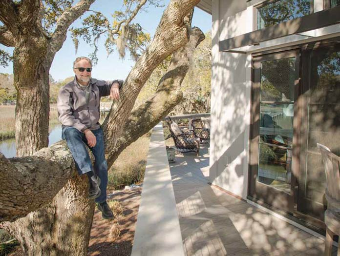 Architect John Crouch at home