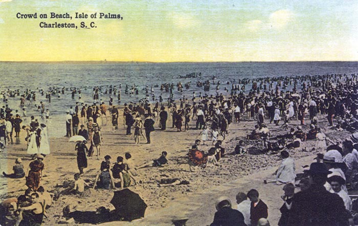Isle of Palms, SC Historic photo - a crowd on the beach