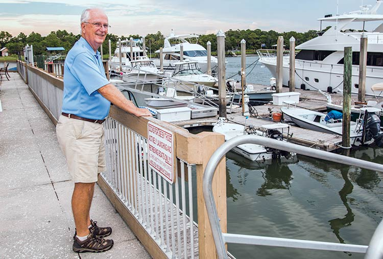 Isle of Palms Mayor Dick Cronin at the IOP Marina